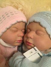 "2 - Twins Reborn Doll Kits 20"" Inc Doe Suede Bodies 20"" Realistic Reborn Twins"