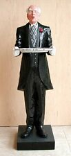 Hand carved wooden butler sculpture 30 inch one of a kind original