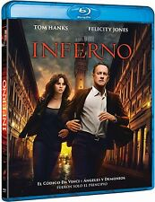 INFERNO BLU RAY NUEVO ( SIN ABRIR ) TOM HANKS Y FELICITY JONES ROBERT LANGDOM