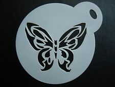 Laser cut small butterfly image design cake,cookie,craft & face painting stencil