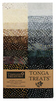 Timeless Treasures, Tonga Treats Jr. Batik Strip, Earth, Jelly Roll
