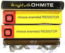 RESISTOR POWER WW 100-Ohm 100-Watt - Ohmite 0604 w-Hdw - *UNUSED* *NOS* - Qty:3