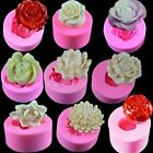 3D Flower Rose Silicone Mould Clay Candy Cake Chocolate Mold Fondant Decorating