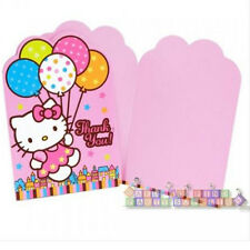 HELLO KITTY Balloon Dream THANK YOU NOTES (8) ~ Birthday Party Supplies Card