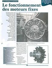 Radial engine Moteurs Fixes Salmon Type 9-2m Moteur Farman Jupiter FRANCE FICHE