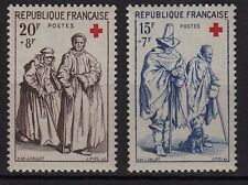 2b**LOT timbres FRANCE x2 Neuf**MNH 1957 CROIX ROUGE ns°1140-1141