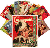 Postcards Pack [24 cards] Vintage Cosmopolitan Magazine Covers CC1104
