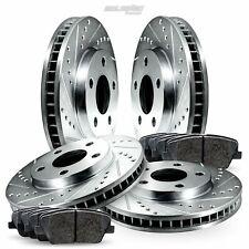 Full Kit Drilled Slotted Brake Rotors and Ceramic Pads For 2007-2012 Mazda CX-7