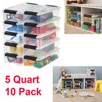 Clear Plastic Storage Bins With Lid Stackable Box Container Small Home Organizer