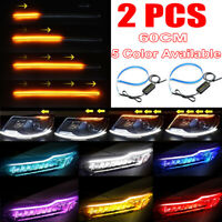 12V 60CM Car LED Strip 2835 Daytime Running Soft Tube Light Turn Signal Lamp