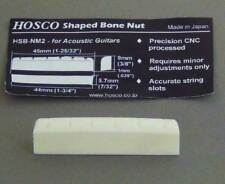 Hosco Cattle Shaped Bone Nut for Dreadnought or OM  Style Guitars. NM2