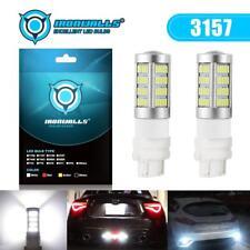 Pair 3156 3157 T25 LED High Power Turn Signal Reverse Light Bulb 6500K White DRL