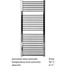 Radiatore bagno scaldasalviette cromato120x45 interasse 40