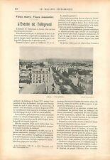Autun Evêché de Talleyrand Bourgogne Paris France GRAVURE ANTIQUE OLD PRINT 1908