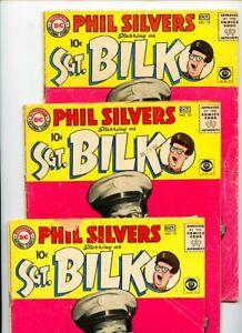 Sergeant Bilko #15(3 copies) DC National Comics Lot of 3 Books