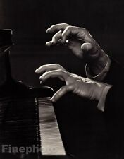 1945/83 Vintage 11x14 ARTHUR RUBENSTEIN Piano Music Hands Photo Art YOUSUF KARSH