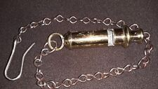 Antique WWII Brass A.R.P. Whistle with chain Circa 1937