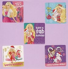15 Barbie Christmas Holiday - Large Stickers - Party Favors