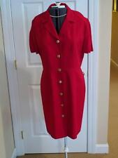 Women's Dani Max Red Dress with Gold Buttons, Size 14, NWOT