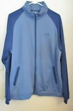 Under Armour Men's Full Zip, Long Sleeve Jacket, Two Tone Blue, Size L