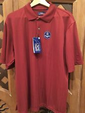 PGA TOUR Men's Size Large Maroon Polo Golf Shirt NEW WITH TAGS