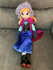 "Disney Store Frozen Anna  21"" Plush Soft Toy Doll"