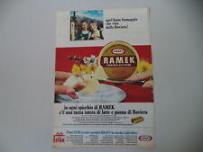 advertising Pubblicità 1966 FORMAGGIO FORMAGGINO RAMEK KRAFT