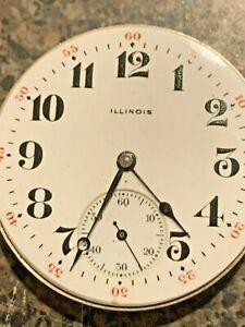 Illinois 16s Hunter Pocket Watch Movt 15J Super nice gold train #2887898 1916