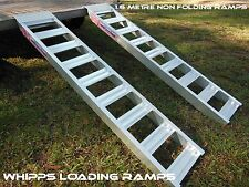 1.2 tonne capacity aluminium loading ramps 1.6 metres long Australian Made