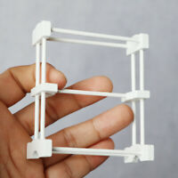 1/12 Doll House Wooden Standing Towel Drying Rack Micro Bathroom Furniture Eager
