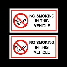 2x No Smoking in This Vehicle Stickers 120x60mm - Car Van Taxi HGV Vinyl Signs