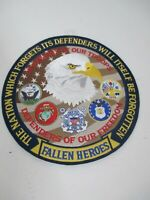 """Fallen Heroes 10"""" Patch 9/11 Defenders of Freedom Eagle Memory of Our Troops"""