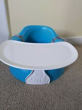 Turquoise Blue Bumbo Baby Seat With Food Tray And Safety Straps
