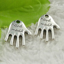 Free Ship 200 pieces tibet silver hand charms 22x16mm #4570