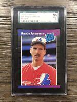 1989 Donruss Randy Johnson Rookie SGC 9 RC #42 Expos