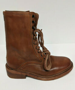 Free People Santa Fe Lace-Up Boots, Brown, Women's 9 M (EU 39)