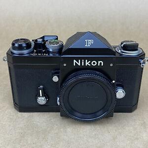 Nikon F Apollo Black W/ Eye Level Finder 35mm SLR Film Camera #7436535 GORGEOUS