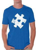 Autism Awareness T-shirt Autism Distressed Puzzle Shirt