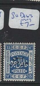 JORDAN (P0910B) POSTAGE DUE SG D163   MOG