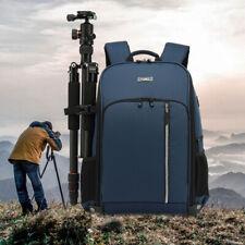 Waterproof Camera Backpack Bag Case Insert 17' Laptop For Dslr Canon Nikon Sony