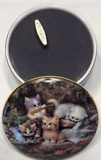 1996 Ardleigh-Elliott Music Box By the Lily Pond Kitten Expedition JURGEN SCHOLZ