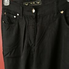 """MCM """"The Golden Jeans"""" Black pants Made in Italy Size 28-42"""