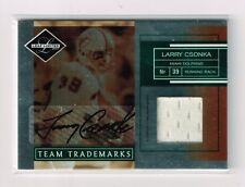 2007 LEAF LIMITED LARRY CSONKA DOLPHINS GAME USED JERSEY AUTO CARD#TT-36 /25