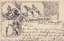 Gruss vom Circus A. Lobe Ansichtskarte 1898 Mehrbild Zirkus Varieté 1607074
