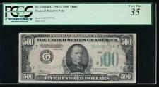 AC 1934A $500 FIVE HUNDRED DOLLAR BILL Chicago PCGS 35 comment
