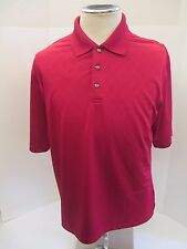 NEW PEBBLE BEACH PERFORMANCE Men's RED MEDIUM POLO /GOLF Pullover Shirt