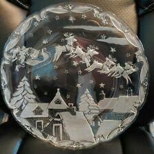 Mikasa Christmas Village Serving Platter Crystal