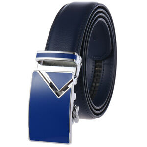 Fashion Men's Real Leather Belt Automatic Buckle Belt High Quality Waist Strap