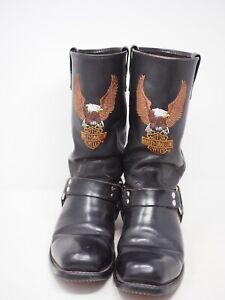 Harley  Davidson mens black leather boots size 10
