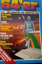 64er (64´er) 09/87 September 1987 C64 Commodore (Spiele, Joysticks - good cond)